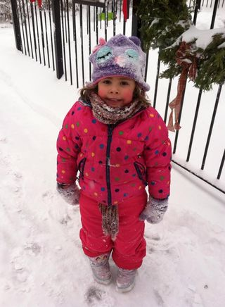 Cora in snow